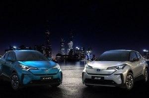 Toyota привезла в Шанхай сразу две электрические версии модели C-HR