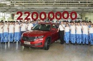Юбилейный «Кодиак»: Skoda выпустила 22-миллионный автомобиль за 124-летнюю историю