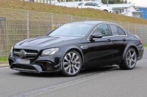 Mercedes-AMG в кузове E-Class с очень короткой колёсной базой «поймали» на тестах